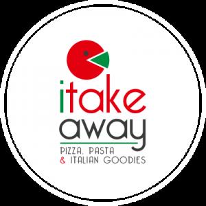 pizzeria i take away logo